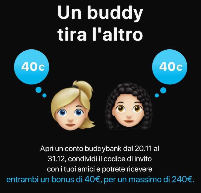 promozione invita un amico buddybank 1
