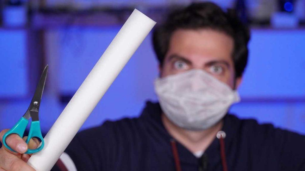 mascherine antivirus fai da te - carta da forno