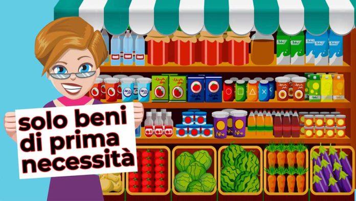 supermercati, solo beni di prima necessità